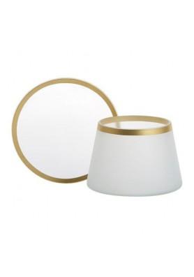 """Комплект плафон и поднос для большой  и средней свечи """"Матовое стекло"""""""
