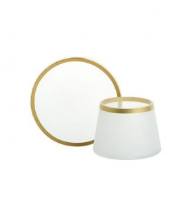 """Комплект плафон и поднос для маленькой свечи """"Матовое стекло"""""""
