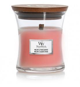Дыня и розовый кварц свеча маленькая 85гр.