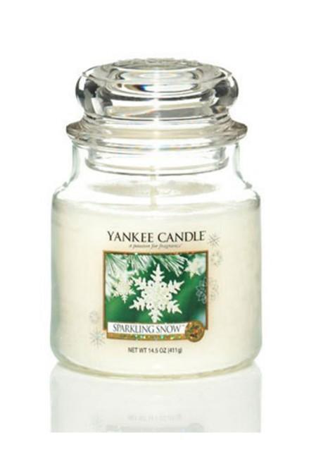 АРОМАТИЧЕСКАЯ СВЕЧА YANKEE CANDLE  Sparkling Snow / Сверкающий снег