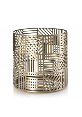 Подставка для свечи сетка латунь CROSSHATCH BRASS JAR HOLDER