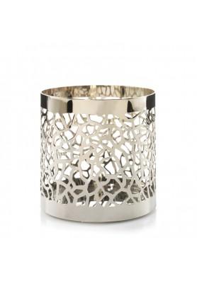 Подставка для свечи матовое серебро MATRIX BRUSHED SILVER JAR HOLDER