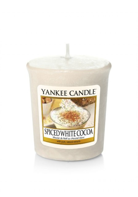 АРОМАТИЧЕСКАЯ СВЕЧА YANKEE CANDLE Spiced White Cocoa / Белое какао со специями