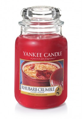 АРОМАТИЧЕСКАЯ СВЕЧА YANKEE CANDLE  RHUBARB CRUMBLE / Песочный пирог с ревенём
