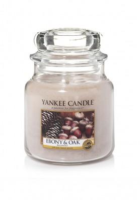 АРОМАТИЧЕСКАЯ СВЕЧА YANKEE CANDLE Ebony and Oak / Дуб и Черное дерево