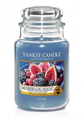 АРОМАТИЧЕСКАЯ СВЕЧА YANKEE CANDLE  Mulberry & Fig Delight / Инжир и ежевика