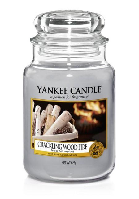 АРОМАТИЧЕСКАЯ СВЕЧА YANKEE CANDLE Crackling Wood Fire / Треск дерева в камине