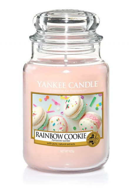 АРОМАТИЧЕСКАЯ СВЕЧА YANKEE CANDLE Rainbow cookie / Радужное печенье