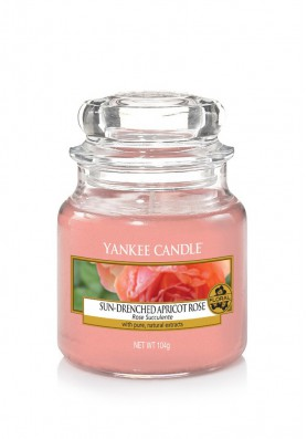 АРОМАТИЧЕСКАЯ СВЕЧА YANKEE CANDLE Sun-drenched apricot rose / Солнечная абрикосовая роза