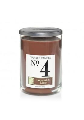 Ароматическая свеча с 2 фитилями Yankee Candle №4 Coconut and Lime / Кокос и лайм