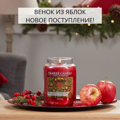 Идеальный яблочный аромат 🍎🎅 . К нам снова поступил этот прекрасный новогодний аромат «Венок из яблок». 🥰 Эта свеча напоминает счастливое возвращение домой... Где в воздухе витает аромат сладких яблок, корицы, грецких орехов и клена. ❤️ . Очень пряно, сладко и по-новогоднему! 🎅🎄🎄🎄